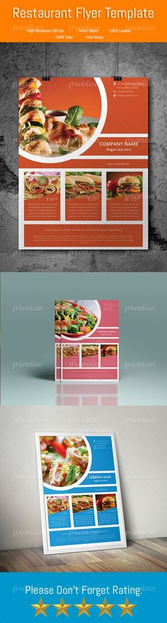 Restaurant Flyer Templete - http://www.codegrape.com/item/restaurant-flyer-templete/4523