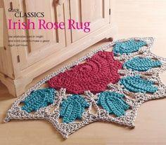 W831 Crochet PATTERN ONLY Classic Irish Rose Rug Pattern