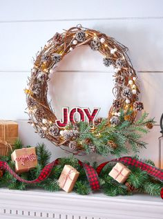 Here is a DIY wreath project that uses grapevines and pinecones to create a rustic, country Christmas holiday wreath #ad #christmas #crafts #wreath Holiday Wreaths, Holiday Crafts, Fun Crafts, Holiday Decor, Christmas Lights, Christmas Holidays, Christmas Decorations, Woodland Christmas, Country Christmas
