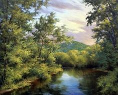 Adirondack Evening by Andrew Orr Oil ~ 16 x 20