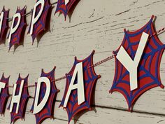 10th Birthday Parties, Fourth Birthday, Man Birthday, Birthday Ideas, Happy Birthday Spiderman, Happy Birthday Banners, Halloween Banner, Halloween Birthday, Superhero Party Supplies