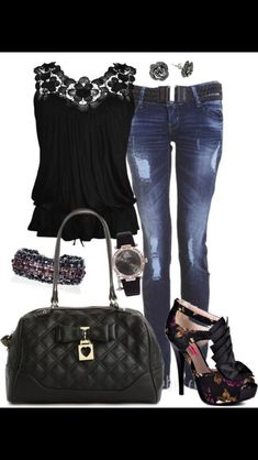 Black and denim style