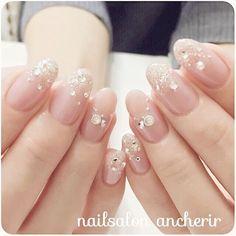 Nails diamond like lace Fancy Nails, Love Nails, Pretty Nails, Nail Swag, Beautiful Nail Designs, Beautiful Nail Art, Bride Nails, Wedding Nails, Asian Nails