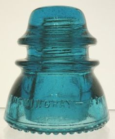 "Hemingray-42 glass insulator in ""Hemingray Blue"""