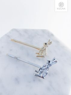 Cute Bunny, Bunny Rabbit, Hair Pins, Donuts, First Love, Arrow Necklace, Hair Accessories, Silver, Gold
