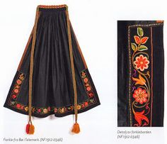 Hello all, today I am returning to Telemark, one of the richest provinces in terms of folk art and costume in Norway. Telemark has. Bead Embroidery Patterns, Beaded Embroidery, Hand Embroidery, Perfect Word, Embroidery Fashion, Mode Hijab, Fashion Sewing, Color Patterns, Tie Dye Skirt