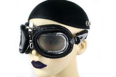 Hi Tek Steampunk Cyber Goth Goggles unusual eye wear  $180 $90