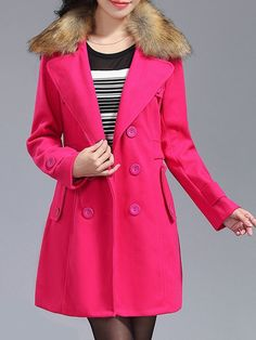 Fabulous Lapel Breasted With Pockets Overcoats Only $38.95 USD More info...