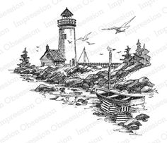 Northern Lighthouse at IOI rubber stamps