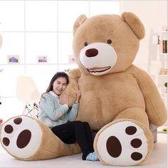 152.75$  Buy now - http://aliujp.worldwells.pw/go.php?t=32776001853 - 2016 New Kawaii 2.6m Huge Plush Animals Giant Teddy Bear Stuffed Animals Soft Toys Kids Toys Huge Plush Bear Best Gifts Juguetes 152.75$
