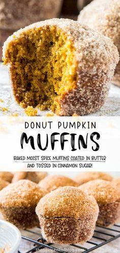 Pumpkin Baking Recipes, Fresh Pumpkin Recipes, Fall Dessert Recipes, Fall Recipes, Sweet Recipes, Easy Fall Desserts, Baked Pumpkin, Spiced Pumpkin, Healthy Pumpkin Muffins