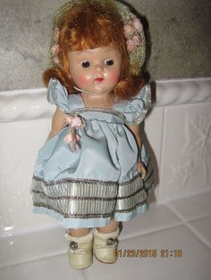 Vintage 1953 Vogue Ginny Doll CheryL No. 44 Tiny Miss Series Red Hair VGC Rare!! #Dolls