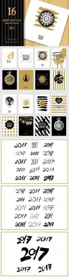 2017 Happy New Year Greeting Cards. $9.00