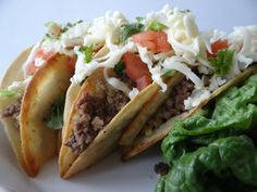 the best tacos are from east l.a, made in a grandmother's kitchen. i grew up eating beef and potato tacos made by my friend's abuela (god bless her soul). it's one of the first recipes i ever learned and one of the best. these are insanely good and this recipe closely resembles grandma's. fry up a batch for a party, and people flip out. east l.a.!