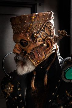 Legendary special effects artist Rick Baker is the undeniable king of Halloween with this steampunk reinterpretation of Frankenstein's Monster. The Monster is powered by an elaborate array of cyborg clockwork and brass fixtures now hold his stringy flesh in place.