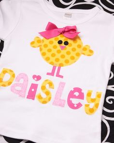 Boutique Personalized Spring Baby Chick by MineAllMineDesigns