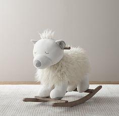 wooly plush rocking animal | restoration hardware baby + child