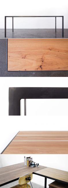 The Noi Worktable was named after Noi, one of our favorite dogs. The design was developed to pare down the details. The surface of the table rests within a steel frame providing a durable edge and slim look. Works great as a workstation when paired with one of our under-desk ped filing cabinets. A variety of surface materials are available for maximum flexibility, including durable high pressure laminates or natural wood veneers. The steel base can be raw steel or finished with…