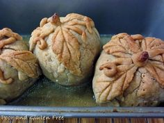 Poor and Gluten Free (with Oral Allergy Syndrome): Healthier Gluten Free Apple Dumplings for National Apple Dumpling Day