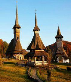 Barsana Wooden Monasteries, Maramures, Romania Discover Amazing Romania through 44 Spectacular Photos Wonderful Places, Beautiful Places, Beautiful Pictures, Places Around The World, Around The Worlds, Bósnia E Herzegovina, Visit Romania, Romania Travel, Chapelle