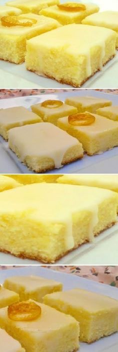 Brownie de limón