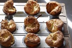 Herb and Cheese Popovers. Popovers take almost no time and then bake up to perfection and make for an excellent snack side dish leftover breakfast or even dessert! Healthy Bread Recipes, Milk Recipes, Donut Recipes, Brunch Recipes, Whats Gaby Cooking, Homemade Rolls, Food To Make, Herb, Favorite Recipes