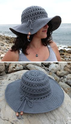New Crochet Pattern: Petals Sun Hat Crochet Summer Hats, Crochet Hat For Women, Crochet Beanie, Crochet Cardigan, Free Crochet, Knit Crochet, Crochet Hats, Sun Hats For Women, Diy Hat
