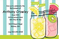 Summer Jars - Retirement Party Invitations