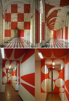 Les œuvres de l'artiste italien Felice Varini, jouant sur les perspectives et la géométrie