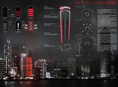 [A3N] : Alternative Car Park Tower (Hong Kong) ( Honorable Mention 04 ) / Thibault Guillaneau , Paul Fraillon, Diego Ibad , Adrian Scateni ( France )
