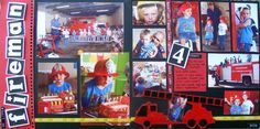 firefighting related scrapbook layouts - Google Search
