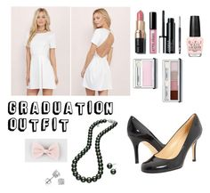 """""""Graduation Outfit"""" by megana7398 on Polyvore featuring Tobi, Kate Spade, Mikimoto, Full Tilt, OPI, Bobbi Brown Cosmetics, Clinique and Amanda Rose Collection"""