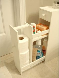 Most clever and creative diy Storage Ideas for Small Spaces on a budget. Help you maximize clothing storage, shoe, toy for small bedrooms, kitchen, bathroom Storage Hacks, Diy Storage, Bathroom Storage, Extra Storage, Storage Ideas, Bathroom Ideas, Smart Storage, Bathroom Layout, Bathroom Floor Cabinets