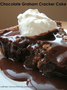 Chocolate Graham Cracker Cake from Culinary Concoctions by Peabody