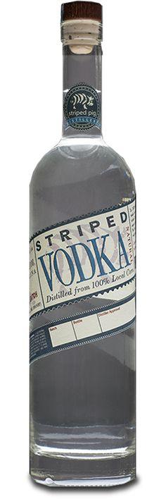 Vodka from Striped Pig Distillery in #Charleston