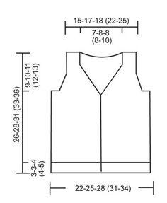 """Junior / DROPS Baby 21-8 - Chaleco DROPS, de punto, con cuello-V y patrón para realzar textura en """"Baby Merino"""" o """"BabyAlpaca Silk"""". - Free pattern by DROPS Design"""