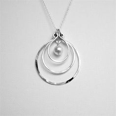 Circle Pendant Necklace Circle Necklace by BelleAtelierJewelry