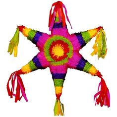 """TRADITIONS: """"The Piñata When they first made an appearance in Mexico, piñatas were clay pots decorated to give them a horrific appearance resembling the devil and were placed outside the church by the missionaries to attract Mexico's indigenous people to attend their services. With time, the piñata took the form of a sphere with seven cones, a star symbolizing the seven deadly sins ..."""" read more at http://www.amazon.com/Celebraciones-Mexicanas-Traditions-AltaMira-Gastronomy/dp/0759122814"""