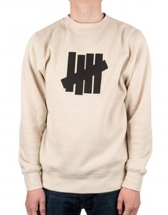 18ee8c2372e37 Buy 5 Strike Basic Crew - Oatmeal by Undefeated from our Clothing range -  Browns