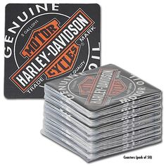 $11.35 Harley-Davidson Oil Can Coaster Bar Caddy (PACK OF 50)