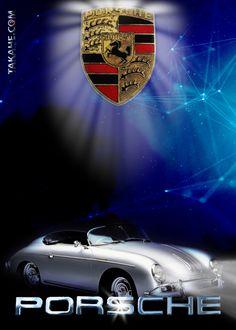 A night scene with a Porsche Speedster from 1957 … Una scena notturna con una Porsche Speedster del 1957 10 Tree, Porsche Logo, Metallica, Scene, Bike, Cars, Night, Vehicles, Poster
