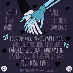 Incorporate the Corpse Bride wedding vows into your own.