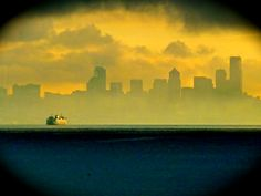Fogged in Seattle Times, Sidewalk, Boat, Pictures, Painting, Photos, Dinghy, Photo Illustration, Painting Art