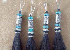 Elegant Beaded horsehair tassels very unique by Knotatail on Etsy