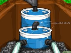 How to Construct a Small Septic System (with Pictures) - wikiHow #howtobuildashed
