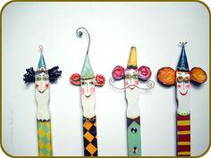 Juliana Bollini:painted/altered paint stirring sticks :)
