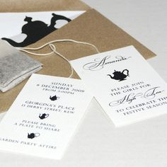 Afternoon Tea Invites