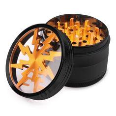 Kreative Crusher Batterie Form Metall Herb Grinder Zigarette Rauchen Werkzeug DE