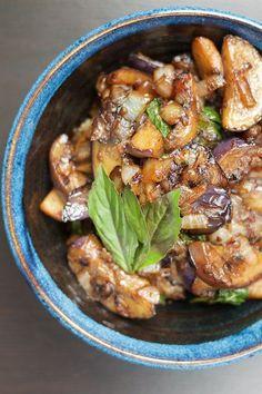 Spicy Thai Eggplant with Basil Recipe [paleo, primal, gluten-free]
