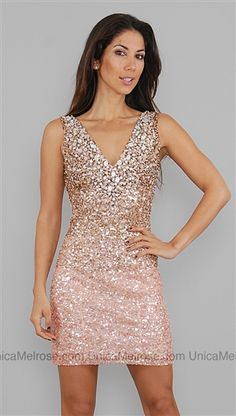 Jovani Silver and Pink Sequin Dress